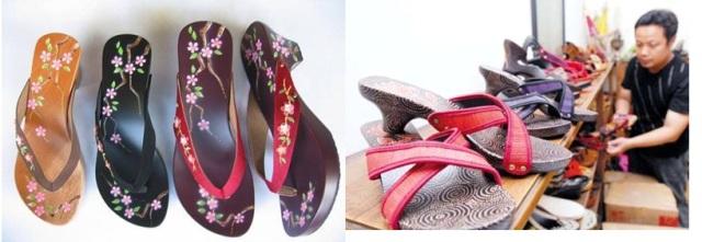 kerajinan sandal, handmade, handycraft